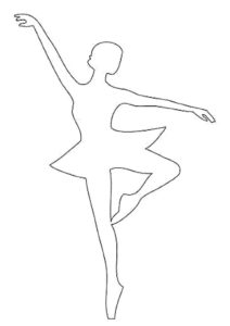 Трафареты и шаблоны снежинок балеринок