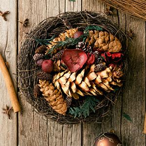 Как украсить рождественский венок