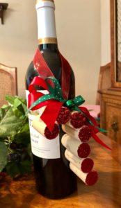 Новогодний венок из винных пробок своими руками